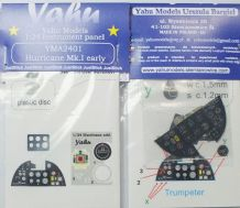 Yahu Models YMA2401 1/24 PE Hawker Hurricane Mk.I early instrument panel